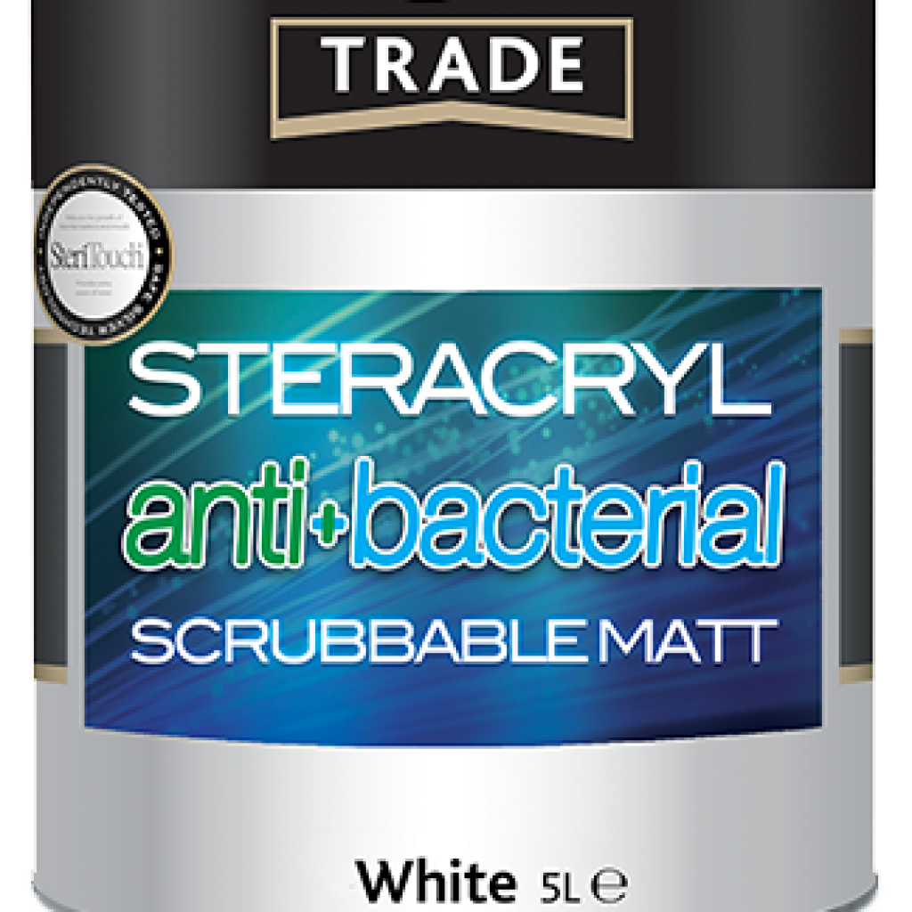 Steracryl antibacterial paint from Crown Trade, powered by SteriTouch technology